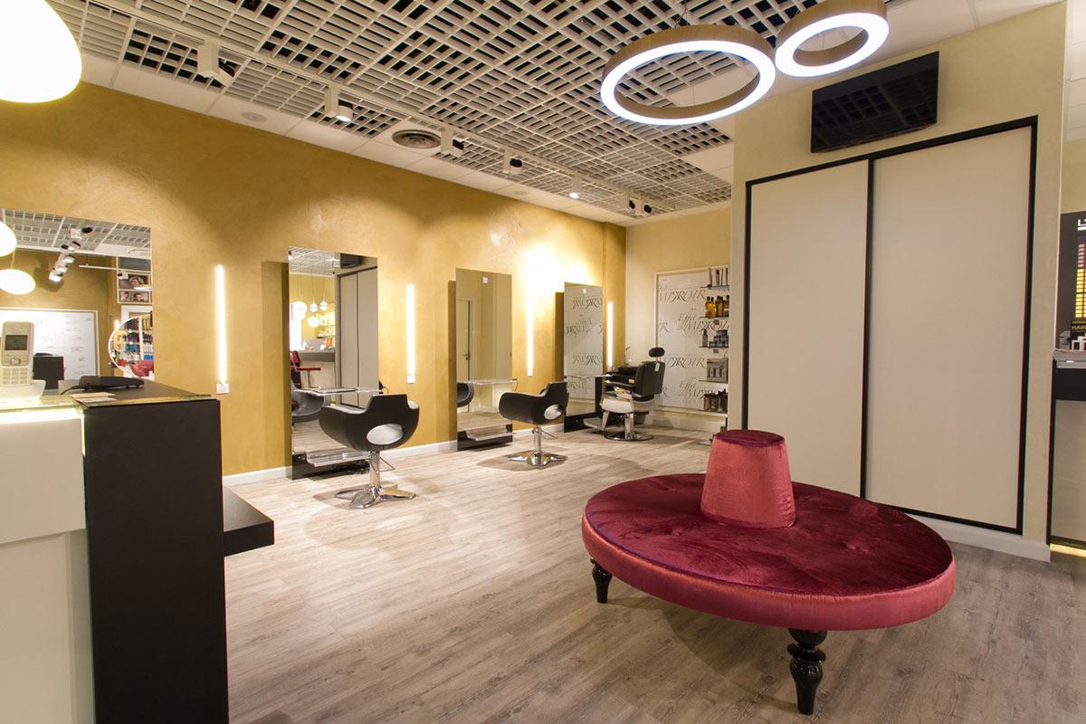 r novation et agencement d un salon de coiffure aix les bains sc nes de maison. Black Bedroom Furniture Sets. Home Design Ideas
