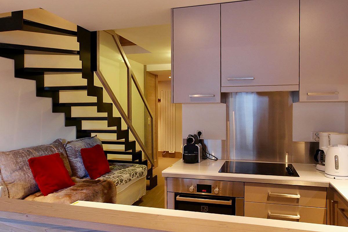 Rénovation d'un appartement + mezzanine dans résidence Pierre & Vacances à Val d'Isère